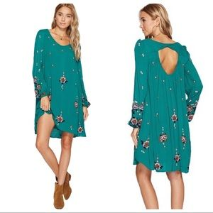 """Free People """"Oxford"""" Swing Dress S Pockets Floral"""